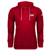 Adidas Climawarm Red Team Issue Hoodie-UIW Cardinal Head Stacked