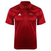 Adidas Climalite Red Jaquard Select Polo-Cardinal Head