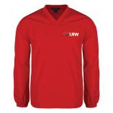 V Neck Red Raglan Windshirt-Cardinal Head UIW