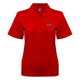 Ladies Easycare Red Pique Polo-Cardinal Head