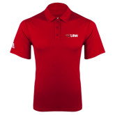 Adidas Climalite Red Grind Polo-Cardinal Head UIW