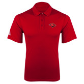 Adidas Climalite Red Grind Polo-Cardinal Head