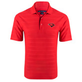 Red Horizontal Textured Polo-Cardinal Head
