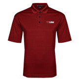 Red Performance Fine Jacquard Polo-Cardinal Head UIW