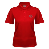 Ladies Red Dry Mesh Polo-Cardinal Head