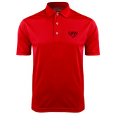 Red Dry Mesh Polo-UIW Cardinal Head Stacked