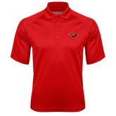 Red Textured Saddle Shoulder Polo-Cardinal Head