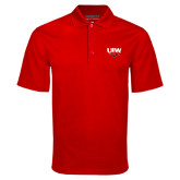 Red Mini Stripe Polo-UIW Cardinal Head Stacked