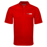 Red Mini Stripe Polo-Cardinal Head UIW