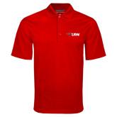Red Mini Stripe Polo-Cardinal Head UIW