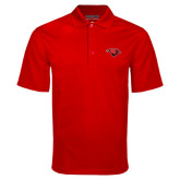 Red Mini Stripe Polo-Cardinal Head