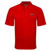 Red Mini Stripe Polo-Cardinal Head