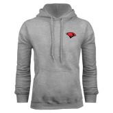 Grey Fleece Hoodie-Cardinal Head