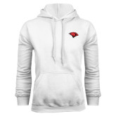 White Fleece Hoodie-Cardinal Head