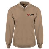 Khaki Executive Windshirt-Cardinal Head UIW