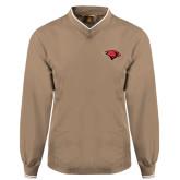 Khaki Executive Windshirt-Cardinal Head