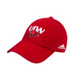 Adidas Red Slouch Unstructured Low Profile Hat-UIW Cardinal Head Stacked
