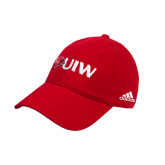 Adidas Red Slouch Unstructured Low Profile Hat-Cardinal Head UIW