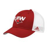 Adidas Red Structured Adjustable Hat-UIW Cardinal Head Stacked