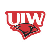 Small Magnet-UIW Cardinal Head Stacked, 6 inches tall