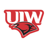 Medium Magnet-UIW Cardinal Head Stacked, 8 inches tall