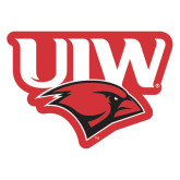 Extra Large Magnet-UIW Cardinal Head Stacked, 18 inches tall