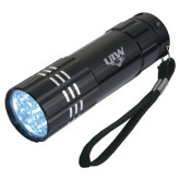 Industrial Triple LED Black Flashlight-UIW Cardinal Head Stacked Engraved