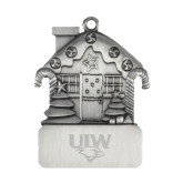 Pewter House Ornament-UIW Cardinal Head Stacked Engraved
