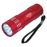 Industrial Triple LED Red Flashlight-UIW Cardinal Head Stacked Engraved