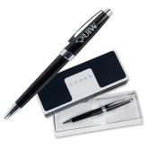 Cross Aventura Onyx Black Ballpoint Pen-Cardinal Head UIW Engraved