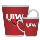 Full Color Latte Mug 12oz-UIW Cardinal Head Stacked