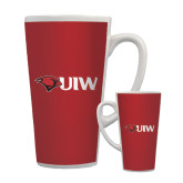 Full Color Latte Mug 17oz-Cardinal Head UIW