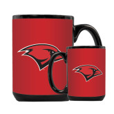 Full Color Black Mug 15oz-Cardinal Head