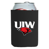 Collapsible Black Can Holder-UIW Cardinal Head Stacked