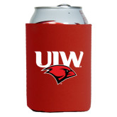 Neoprene Red Can Holder-UIW Cardinal Head Stacked