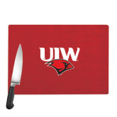 Cutting Board-UIW Cardinal Head Stacked