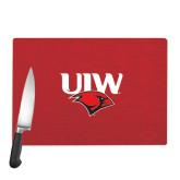 Cutting Board-UIW Cardinal Head Stacked