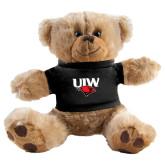 Plush Big Paw 8 1/2 inch Brown Bear w/Black Shirt-UIW Cardinal Head Stacked