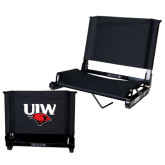 Stadium Chair Black-UIW Cardinal Head Stacked