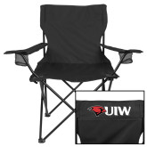 Deluxe Black Captains Chair-UIW Cardinal Head Stacked