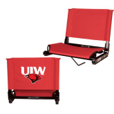 Stadium Chair Red-UIW Cardinal Head Stacked