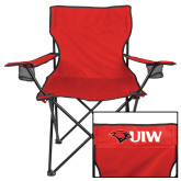 Deluxe Red Captains Chair-UIW Cardinal Head Stacked