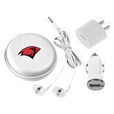 3 in 1 White Audio Travel Kit-Cardinal Head