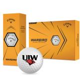 Callaway Warbird Golf Balls 12/pkg-UIW Cardinal Head Stacked