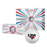 Callaway Supersoft Golf Balls 12/pkg-UIW Cardinal Head Stacked