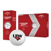 Callaway Chrome Soft Golf Balls 12/pkg-UIW Cardinal Head Stacked
