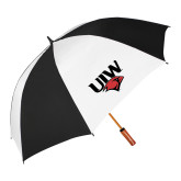 62 Inch Black/White Umbrella-UIW Cardinal Head Stacked