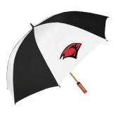 62 Inch Black/White Umbrella-Cardinal Head