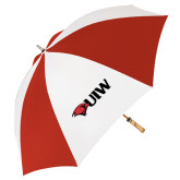 62 Inch Red/White Vented Umbrella-Cardinal Head UIW