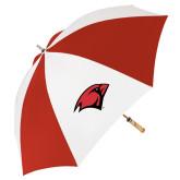 62 Inch Red/White Vented Umbrella-Cardinal Head